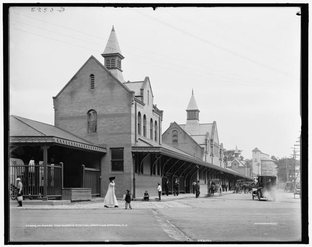 Delaware and Hudson [Railroad] station, Saratoga Springs, N.Y.