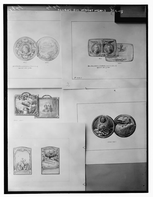 Designs for Wright Medals