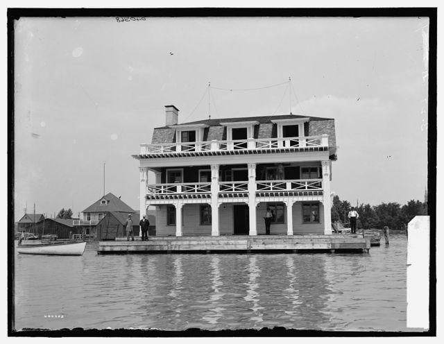 [Detroit] Motor Boat Club, front view, [Detroit, Mich.]