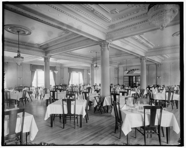 [Dining room, Hotel Vermont, Burlington, Vt.]