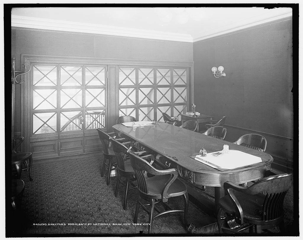 Director's room, 34th St. [Thirty-fourth Street] National Bank, New York City