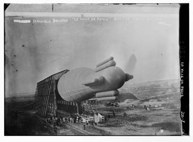 """Dirigible balloon, """"La Ville de Paris"""", built by Henri Deutsch"""