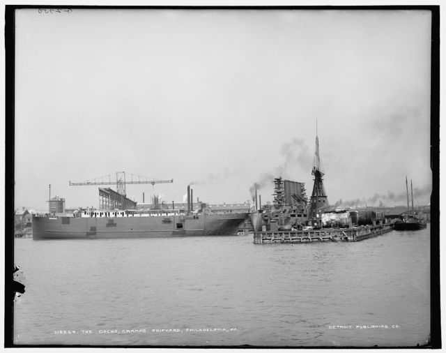 Docks, Cramps Shipyard, Philadelphia, Pa., The
