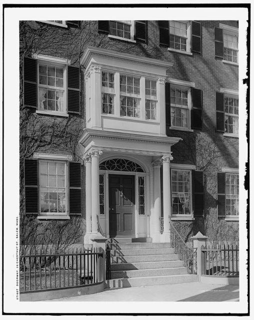 Doorway, 26 Chestnut St. [Street], Salem, Mass.