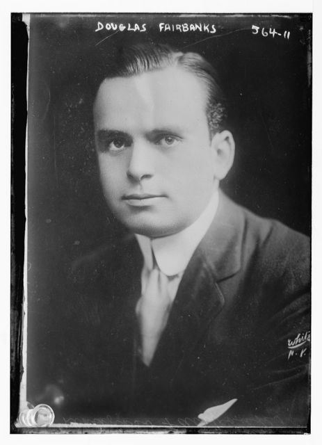 Douglas Fairbanks, portrait bust, White, N.Y. / White