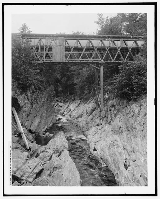 Down Brookway [i.e. Brockway] gorge, Vt.