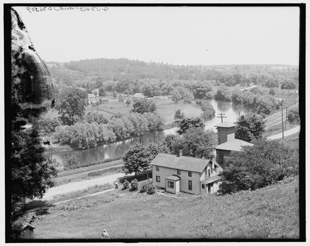 [Down the Huron River, Ann Arbor, Mich.]