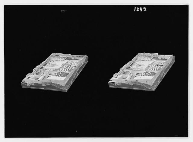 Dr. Shick's [i.e. Schick's] models. Temple area, showing slope of rock