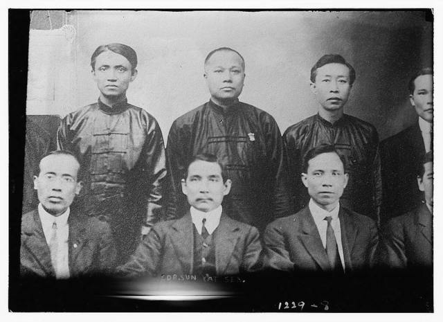 Dr. Sun Yat Sen, front center of group