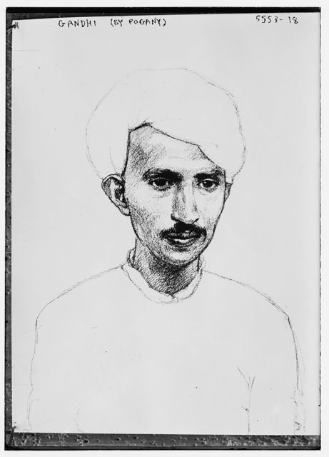 Drawing of Gandhi (by Pogany)