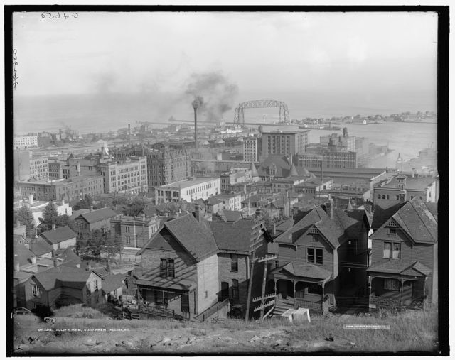 Duluth, Minn., view from Incline Ry. [Railway]