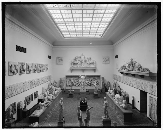 [E. classical court from balcony, Museum of Fine Arts, Boston, Mass.]