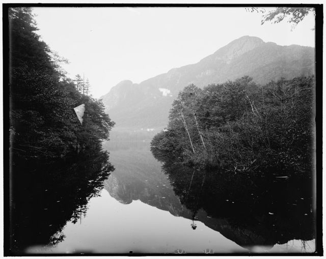 [Eagle Cliff from Profile Lake, White Mts., N.H.]