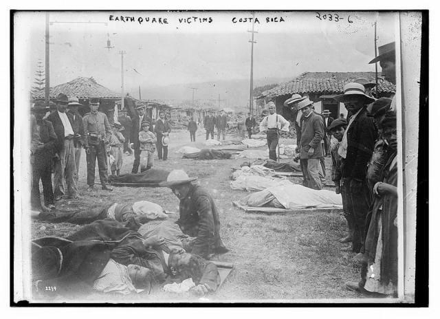 Earthquake victims. Costa Rica