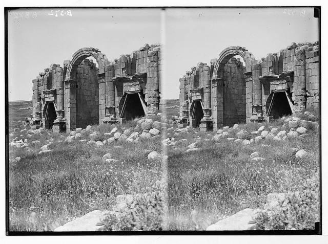 East of the Jordan and Dead Sea. Triumphal arch, Jerash
