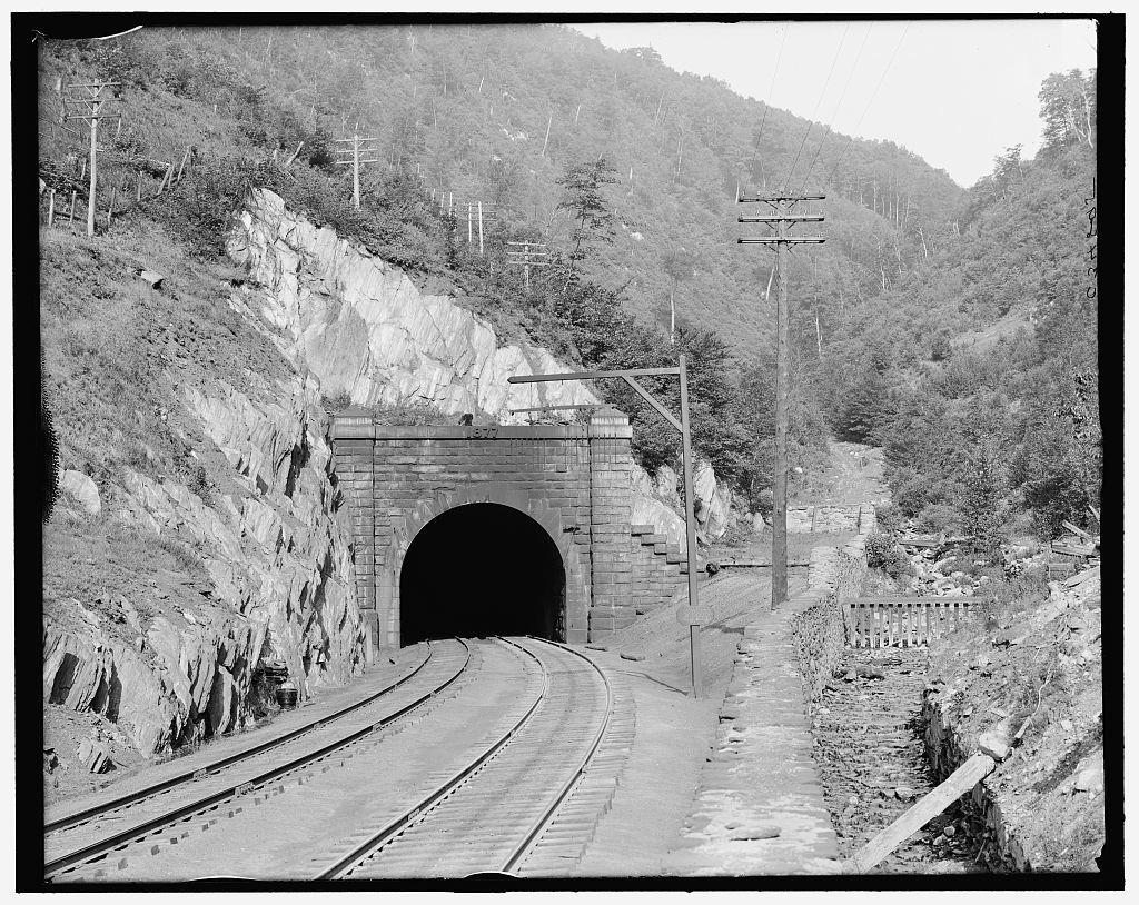 [East portal, Hoosac Tunnel, Florida, Mass.]