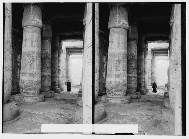 Egyptian views; Abydos. First hypostyle hall, Temple of Sethos I
