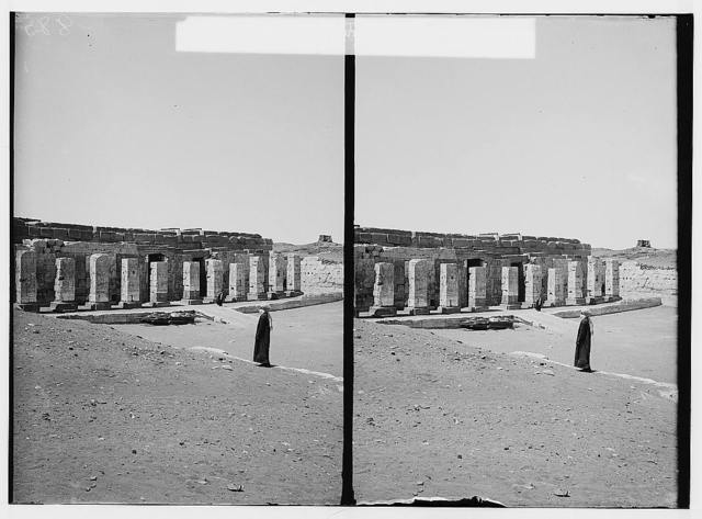Egyptian views; Abydos. General view of Temple of Sethos I
