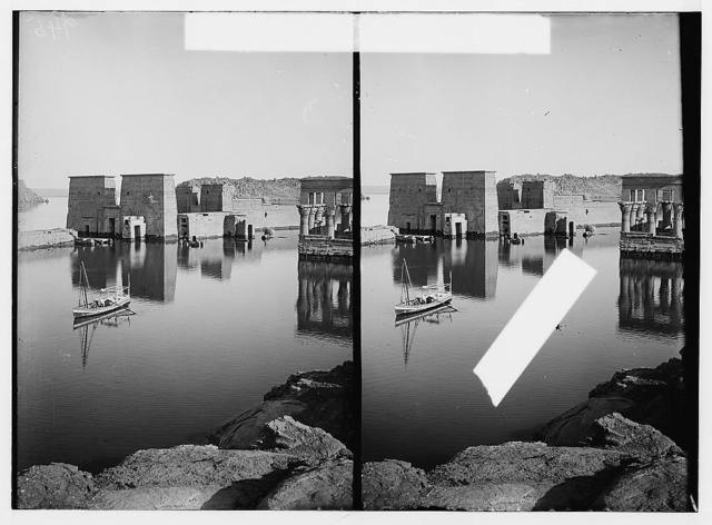 Egyptian views; Assuan and Philae. Temple of Isis at Philae looking N.W.