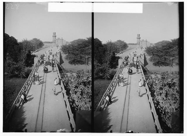 Egyptian views; The barrage. General view of the barrage looking E. along the top