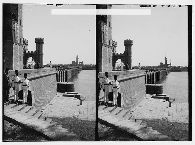 Egyptian views; The barrage. Near view of the barrage from the E.