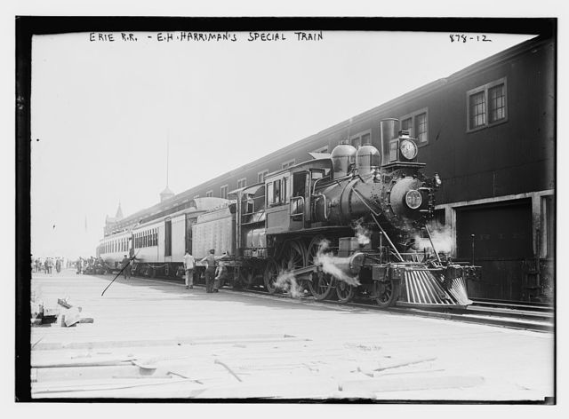 E.H. Harriman's special train, Erie R.R.