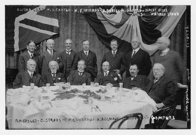 Elisha Lee, W.S. Carter, W.F. Morgan, J. Davies, H. Garrod, Haley Fiske, Amos, Warren Stone, R. M. Measley, O. Straus, C.W. Bowerman, A. Belmont, J.H. Thomas, S. Gompers