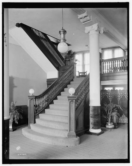 [E.M. Bigsby Co. show rooms, stairway to the balcony]