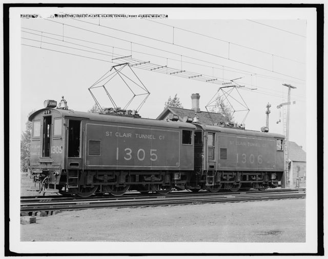 Engine, locomotive, 1500 h.p., Ste. Claire [i.e. St. Clair] tunnel, Port Huron, Mich.