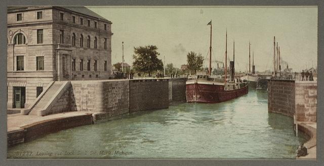 Entering Poe Lock, Sault Ste. Marie, Michigan