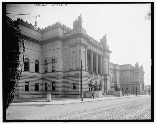 [Entrance, Carnegie Institute, Pittsburgh, Pa.]