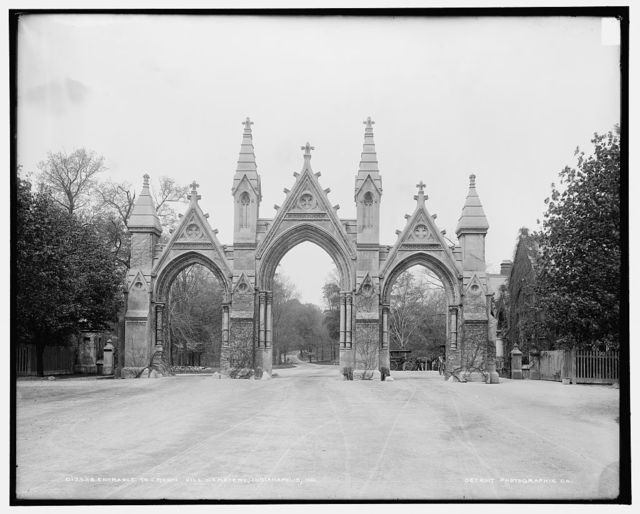 Entrance to Crown Hill Cemetery, Indianapolis, Ind.