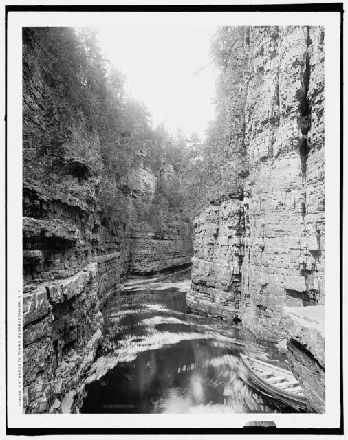 Entrance to flume, Ausable Chasm, N.Y.