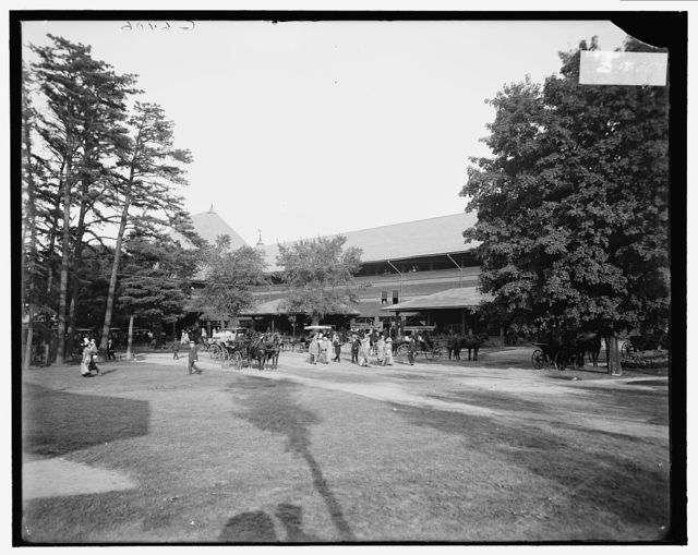 [Entrance to grand stand, race track, Saratoga Springs, N.Y.]