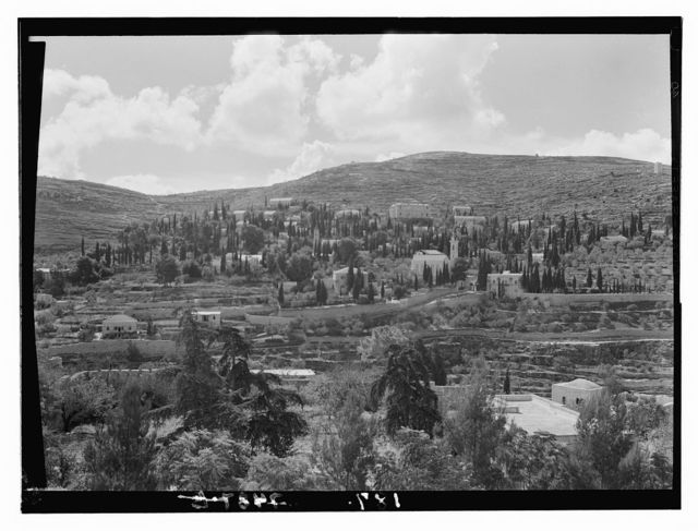 Environs of Jerusalem. Ain Karim, Russian settlement