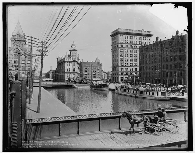 Erie Canal at Salina St., Syracuse, N.Y.