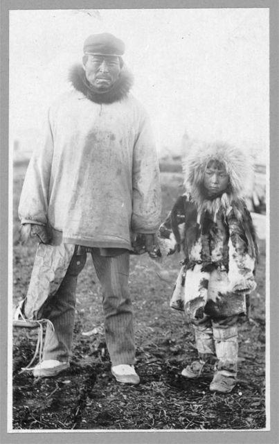 Eskimo father and child