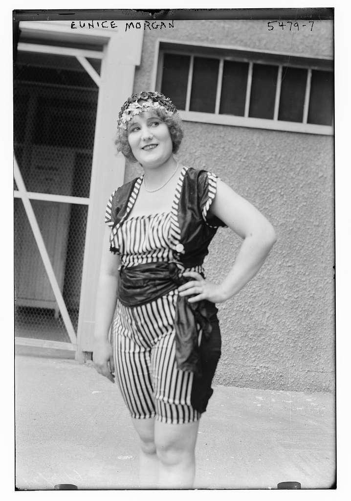 Eunice Morgan wearing shorts