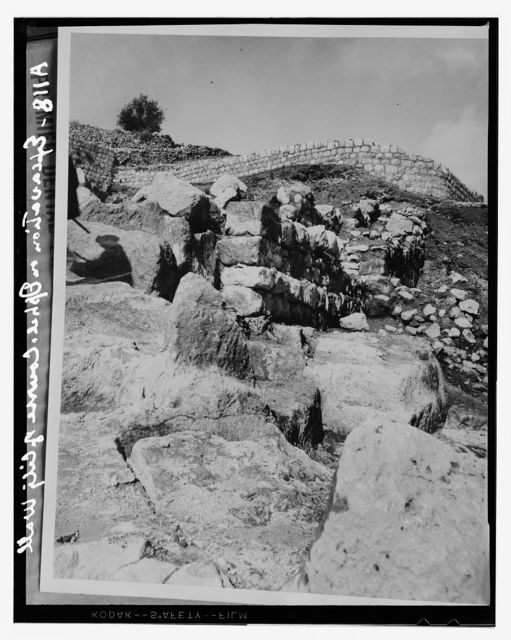 Excavations on Ophel. Course of the old city wall