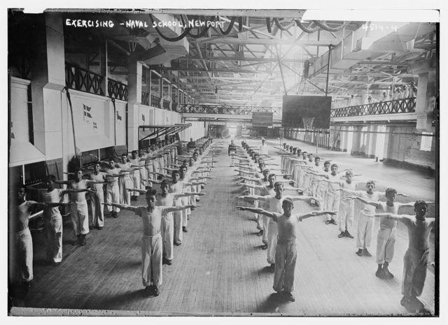 Exercising -- Naval School, Newport