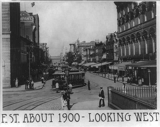 F Street about 1900 looking west
