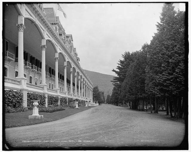 Facade, Fort William Henry Hotel, Lake George, N.Y.
