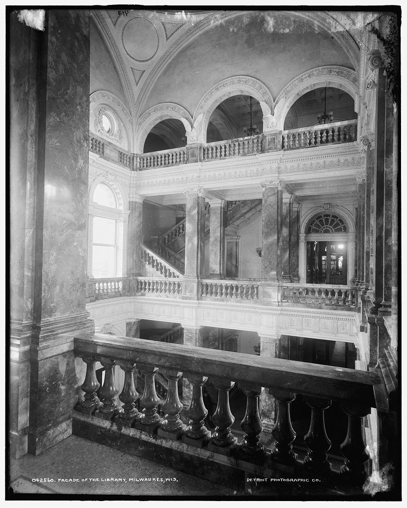 Facade of the library, Milwaukee, Wis.