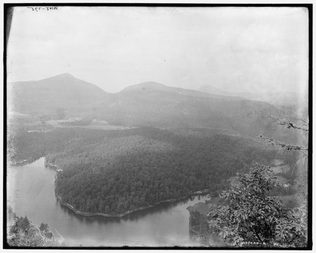 [Fairfield Lake and Chimney Top from Bald Face, Sapphire, N.C.]