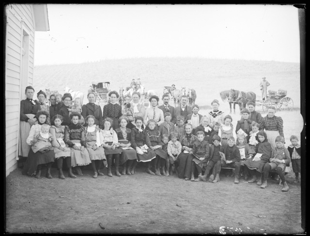 Family reunion on farm east of Kearney, Buffalo County, Nebraska