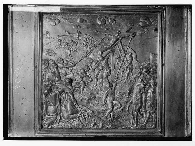 Famous Florentine bronzes in Church of the Holy Sepulchre. Raising of the Cross