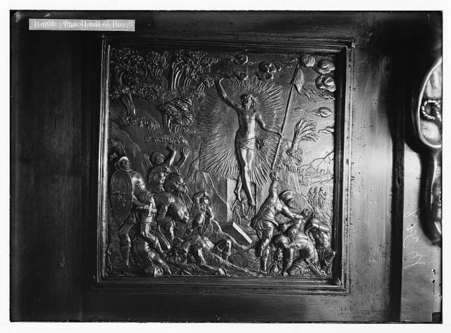 Famous Florentine bronzes in Church of the Holy Sepulchre. The Resurrection