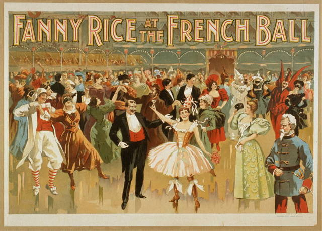Fanny Rice at the French ball