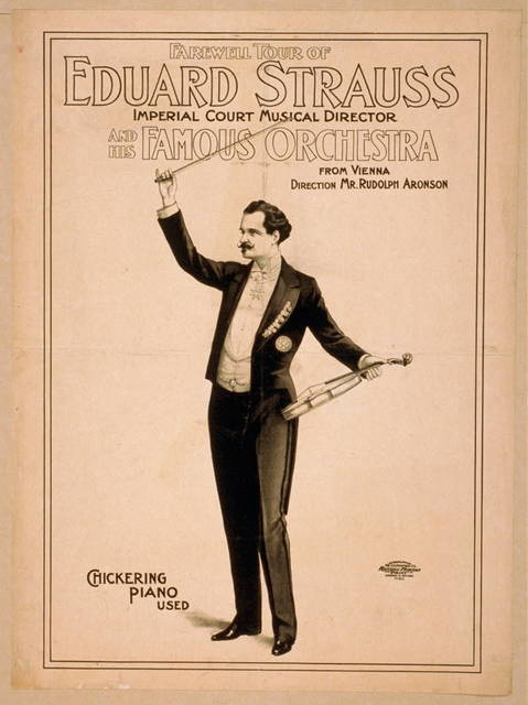Farewell tour of Eduard Strauss, Imperial Court musical director and his famous orchestra from Vienna