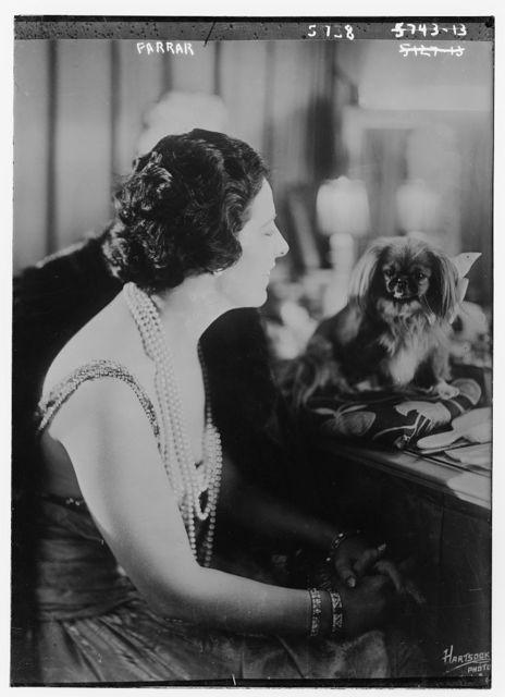 Farrar with pet dog